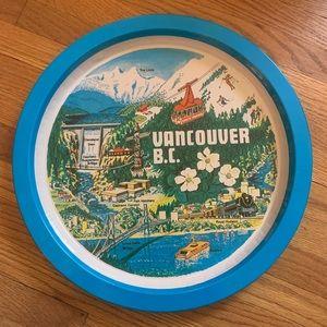Vintage Metal Vancouver Souvenir Plate